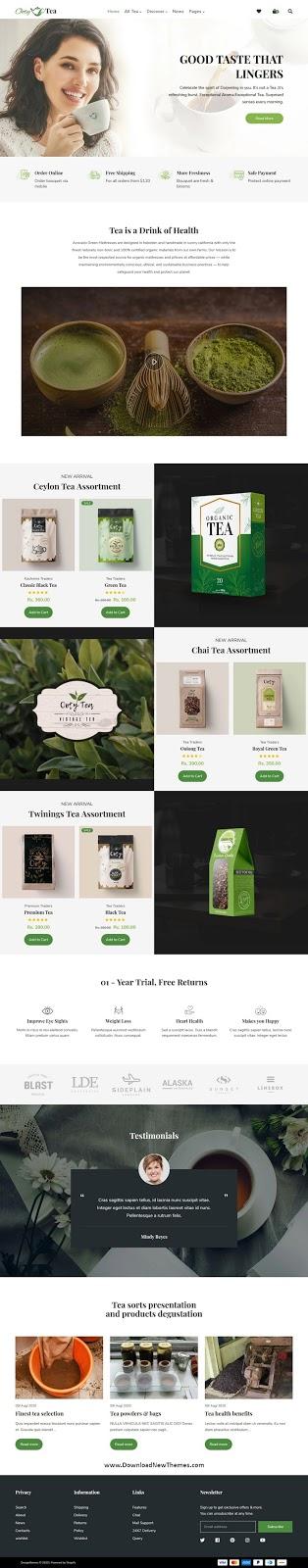 Organic Tea Store Shopify Theme