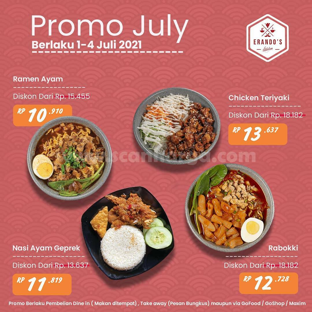 Promo Erando's Kitchen Pontianak Terbaru JULI 2021