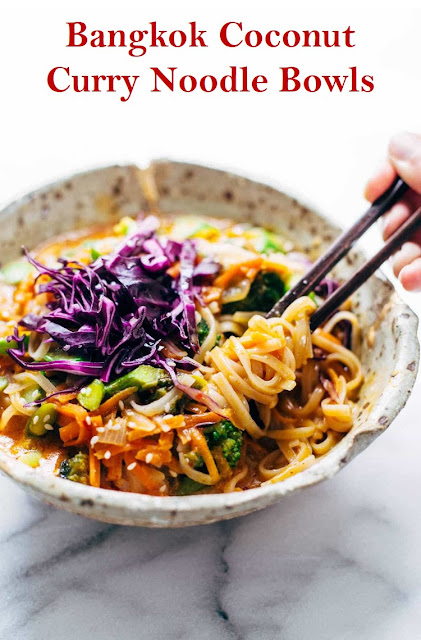 Bangkok Coconut Curry Noodle Bowls #BangkokCoconutCurryNoodleBowls #Bangkok #Coconut #Curry #Noodle #Bowls