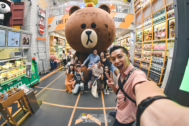 Huge Brown at Line Friends Flagship Store, Myeongdong #TCSelfie