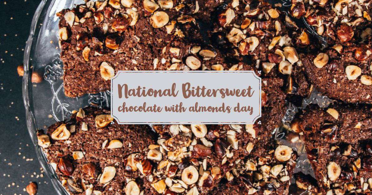 National Bittersweet Chocolate with Almonds Day Wishes For Facebook