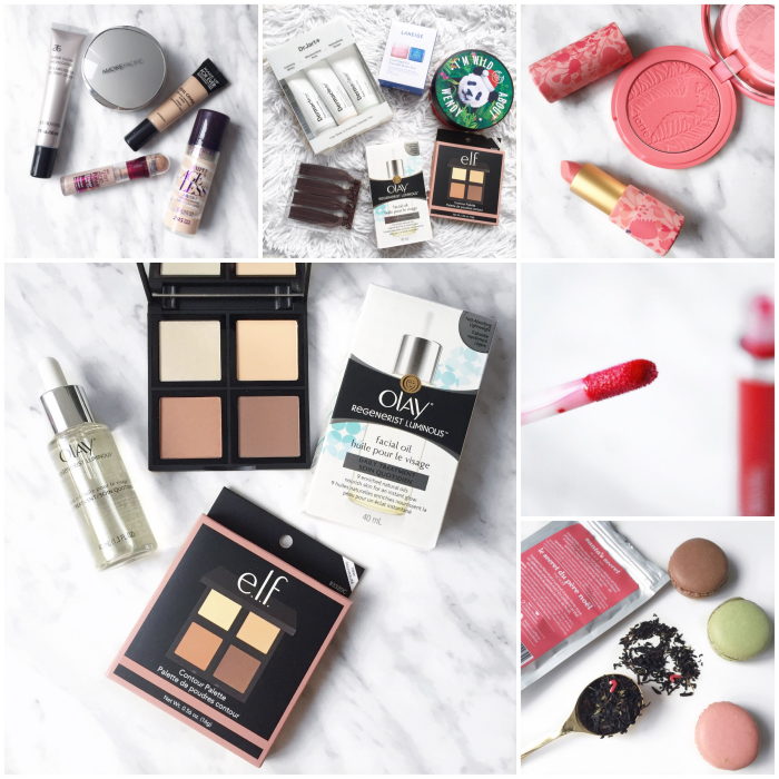 bbloggers, bbloggersca, canadian beauty bloggers, instagram, instamonth, round up, bloggers, lbloggers, yearly favorites, sephora haul, drugstore haul, christmas gifts, tarte, pretty posse, davids tea, olay facial oil, elf contour palette, amazonian clay, butter lipstick, blush, arbonne lip gloss, cardinal