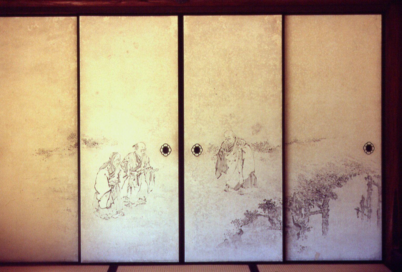Japon Cultura Y Arte Arquitectura Japonesa Fusuma Shoji Amado Y - Puertas-japonesas-deslizantes