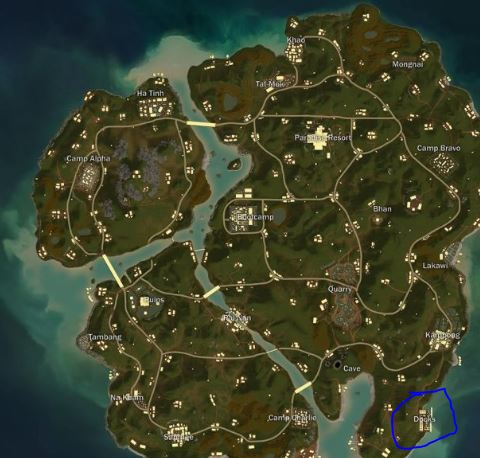 Best Places For Loot In Sanhok Map