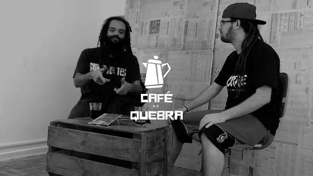 """O Programa de internet """"Café de Quebra"""" entrevista pessoas influentes na periferia."""