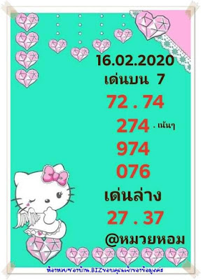 Thailand Lottery 123 Down Facebook Timeline Blogspot 16 February 2020