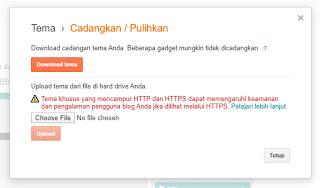 cara mengunggah template blogger yang baru