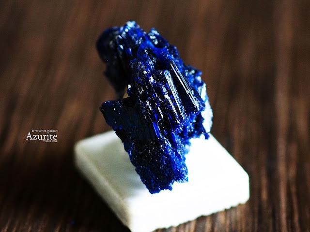 アズライト 藍銅鉱 Azurite kerrouchen morocco