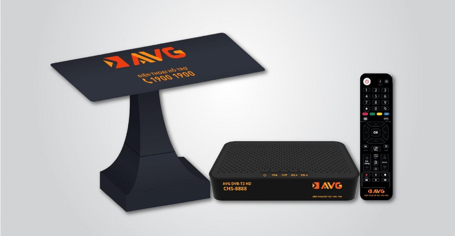 Hình ảnh trọn bộ đầu thu truyền hình mặt đất (DTT) của AVG