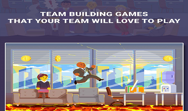 12 Superb Team-Building Games and Activities You Won't be Ashamed of #infographic