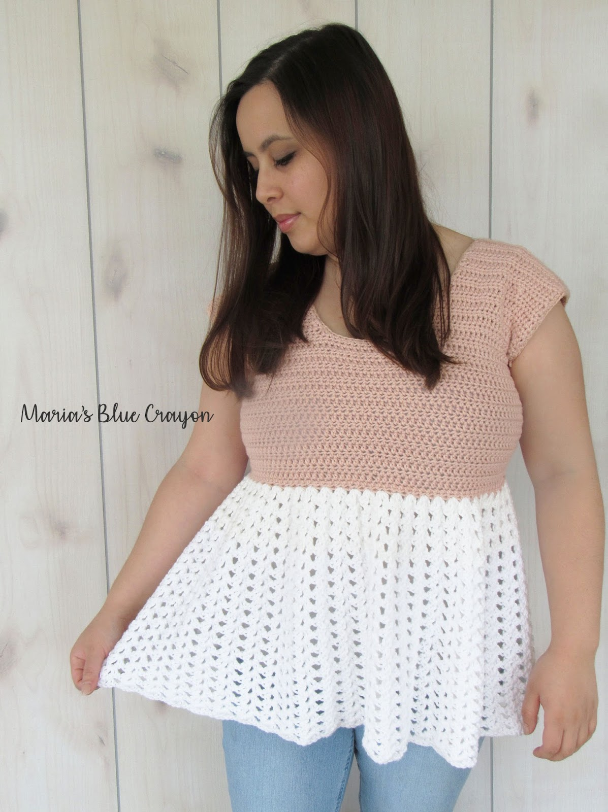 Talulah Top - Free Crochet Lacey, Ruffle Tunic Pattern - Maria\'s ...