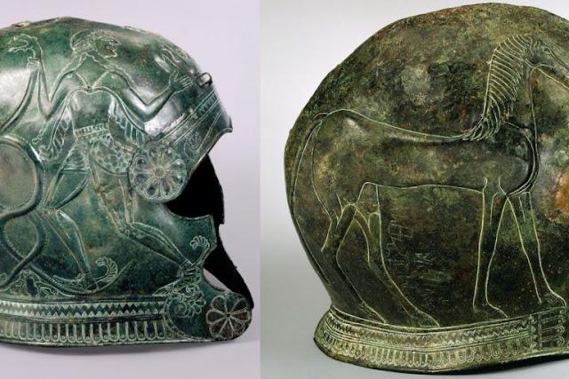 Η ΚΛΕΜΜΈΝΗ ΜΑΣ ΙΣΤΟΡΙΑ Δύο Μοναδικά Αρχαία Ελληνικά Ενεπίγραφα Κράνη Του 7ου Αι. Π.Χ. Από Χωριό Αρκάδων Στην Κρήτη!