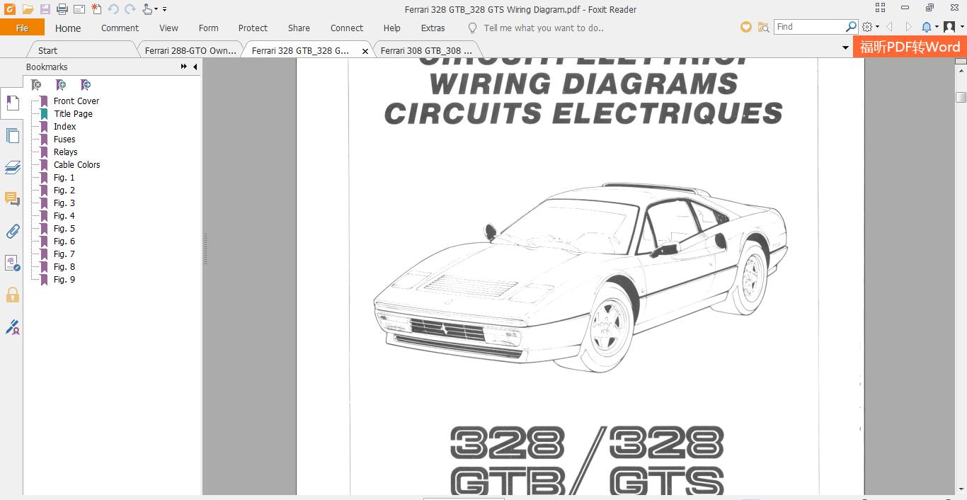 Ferrari 328 Gtb 328 Gts Wiring Diagram