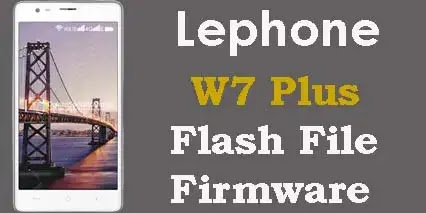 Lephone w7 plus flash file firmware
