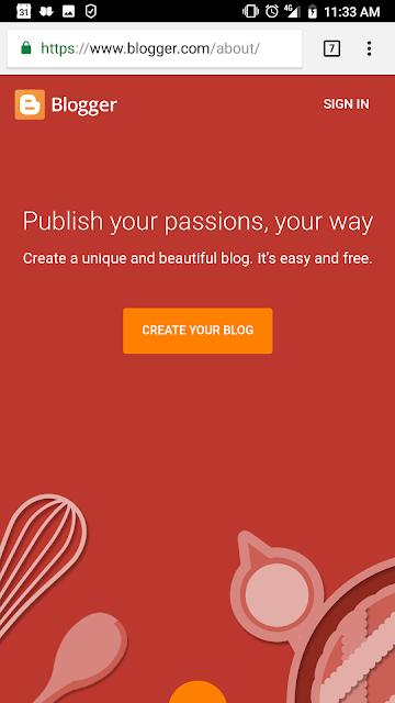 cara membuat blog di hp