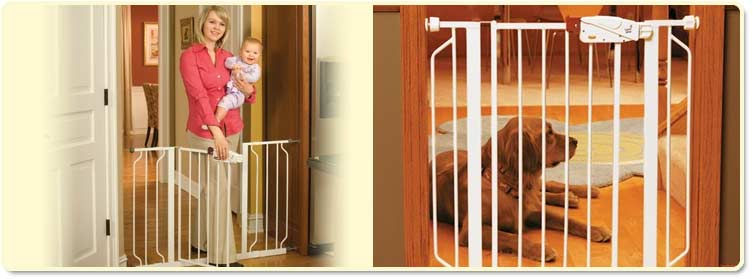 Best Baby Gates Guide Regalo Maxi Super Wide Walk Thru Gate Home