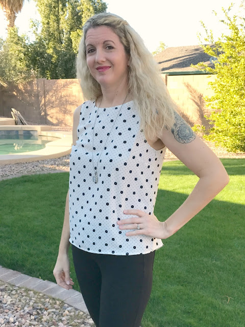 Stitch Fix #29 Review - January 2017 - Renee C Leida Split Back Blouse