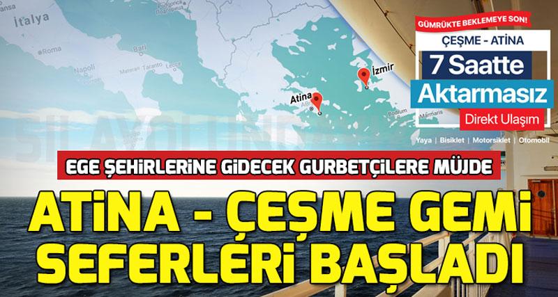Atina Lavrion - İzmir Çeşme Arasında Gemi Seferleri Başladı