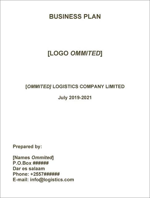 LOGISTICS COMPANY BUSINESS PLAN