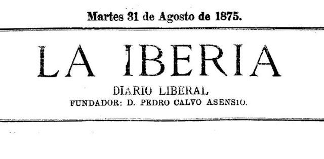 Cabecera del diario La Iberia