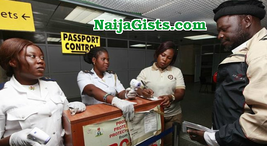 lagos airport officials beg money