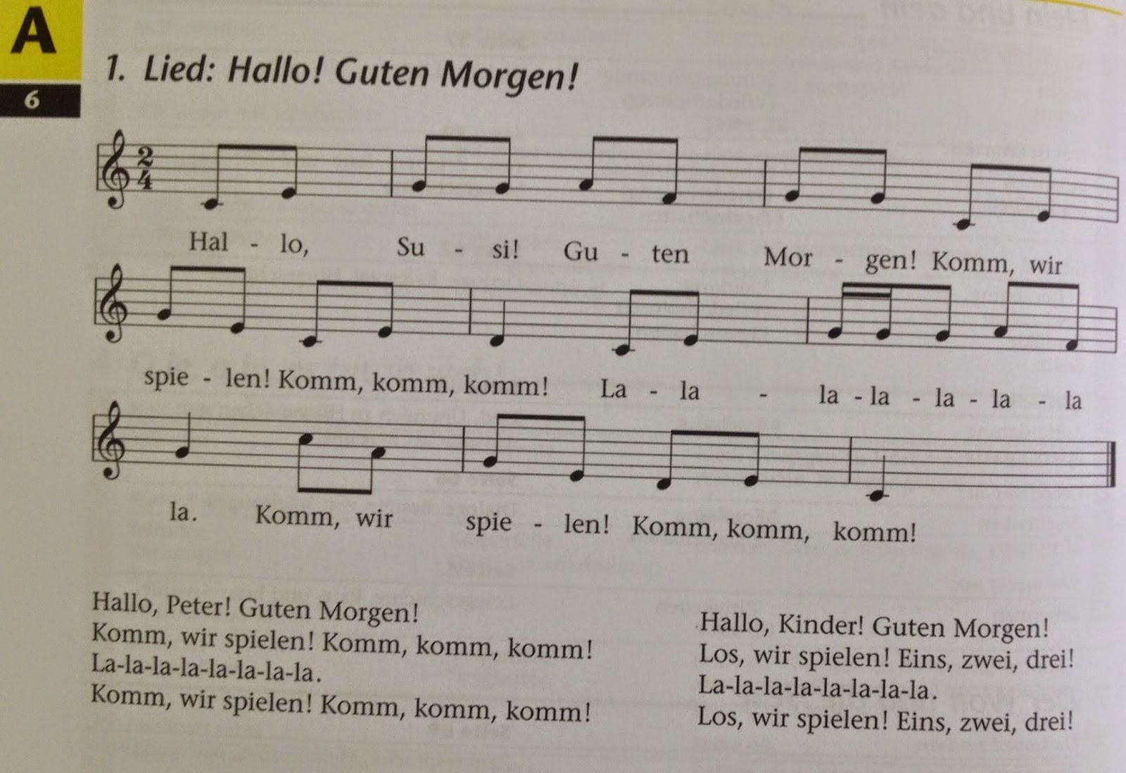 Deutsch Mit Anna Singen Wir Hallo Guten Morgen