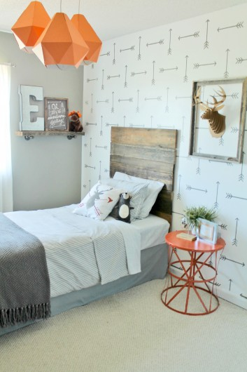 Adding character with stenciled walls