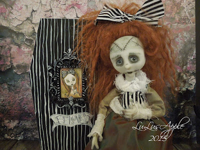 art doll,art dolls,lulusapple, lulu lancaster,creepy doll,goth doll