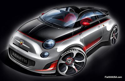 Fiat 500c Abarth Cabrio rendering