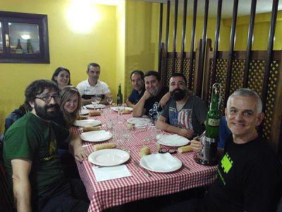 Cena de escritores en Celsius 2015