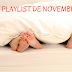 la playlist du mois de novembre 2019