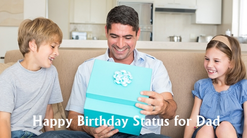 Happy Birthday Status for Dad Quotes in English