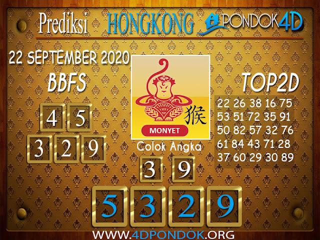 Prediksi Togel HONGKONG PONDOK4D 22 SEPTEMBER 2020