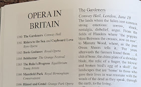 Review of The Gardeners in the September issue of Opera