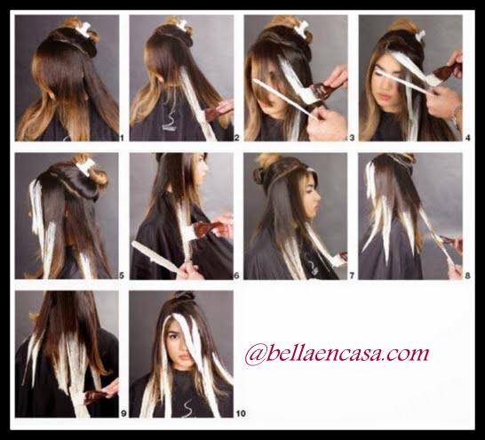 Iluminacion de cabello paso a paso