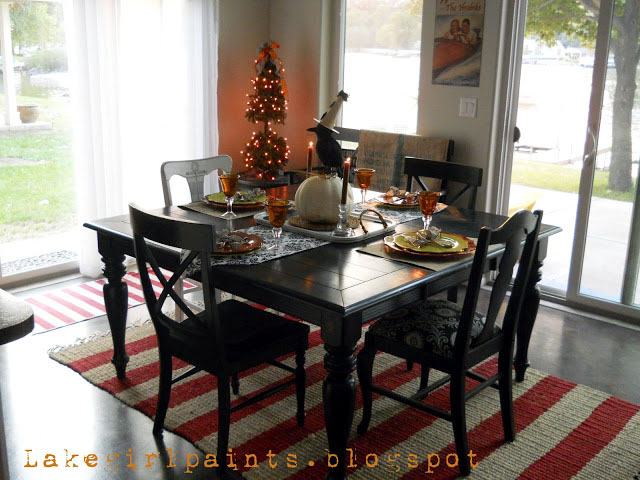 Lake Girl Paints Dining Table Black To Farmhouse Natural