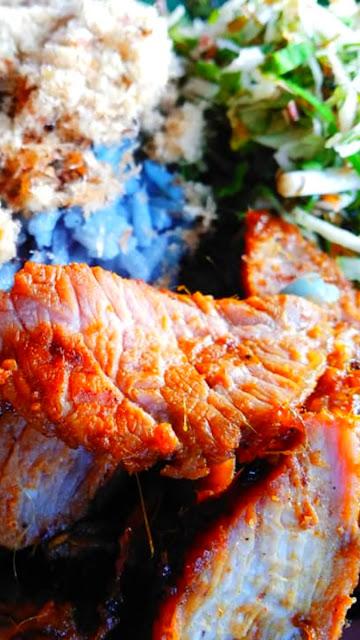 Sarapan pagi  food delivery menu nasi kambing bakar