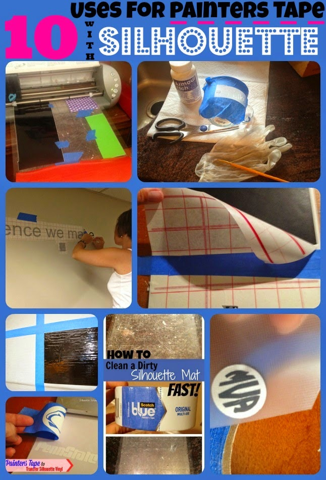 Painters tape, Painter's tape, Silhouette, crafting