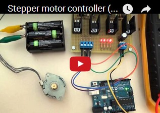 Stepper motor controller (3 Ampere) for unipolar type with Arduino