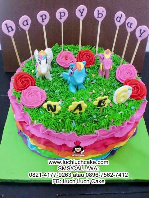 Luch Luch Cake Kue Tart My Little Pony Rainbow Dash Daerah