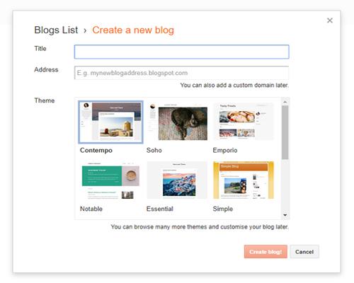 Create BlogSpot Blog Image