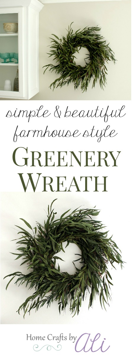 simple beautiful farmhouse style greenery wreath tutorial