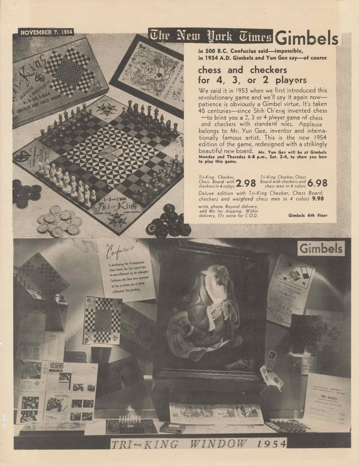 Chinese American Eyes: Yun Gee's Tri-King 4-D Chess and ...
