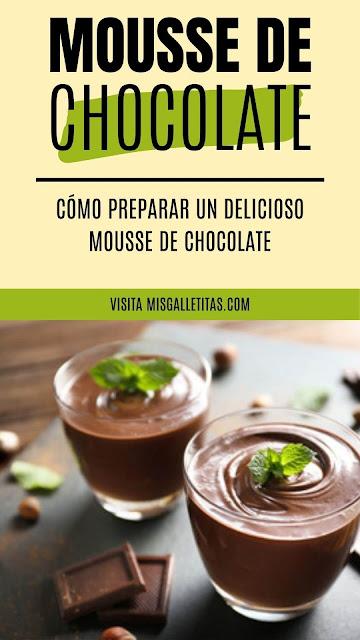 mousse de chocolate postre frio, recetas de postres de chocolate