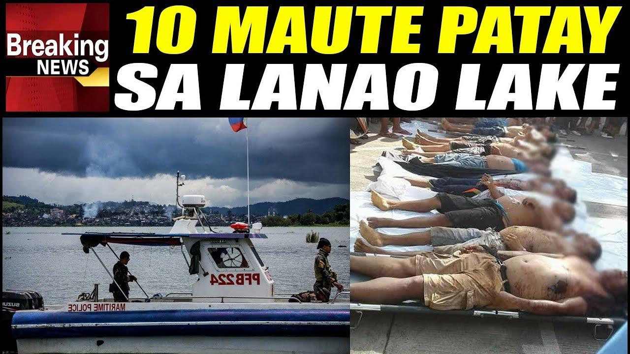 LOOK: Patay Ang 10 Maute Reinforcement Habang Namamangka sa Lanao Lake
