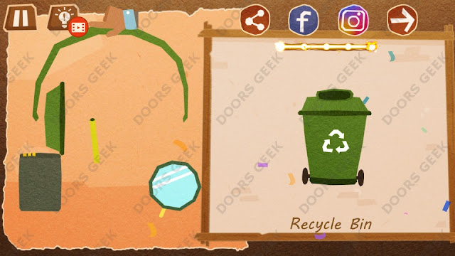 Chigiri: Paper Puzzle Apprentice Level 32 (Recycle Bin) Solution, Walkthrough, Cheats