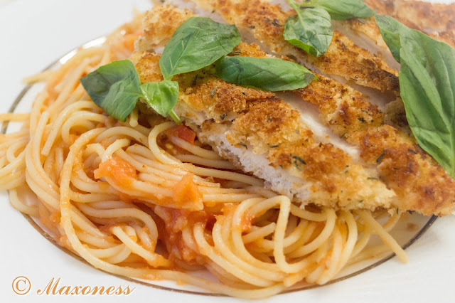 Шницель и спагетти от Джейми Оливера