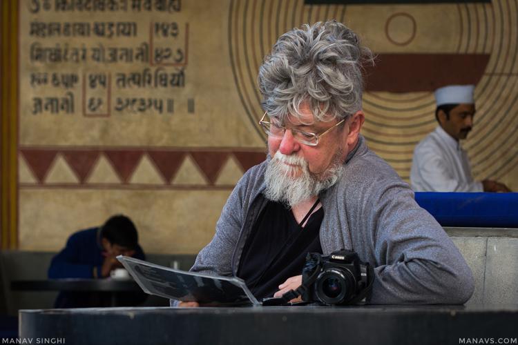 Ron Tierney at Jawahar Kala Kendra, Jaipur.