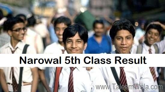 Narowal 5th Class Result 2019 - PEC Narowal Board 5th Results - BISE Online