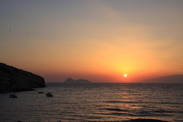 Pôr-do-sol em Matala, Creta